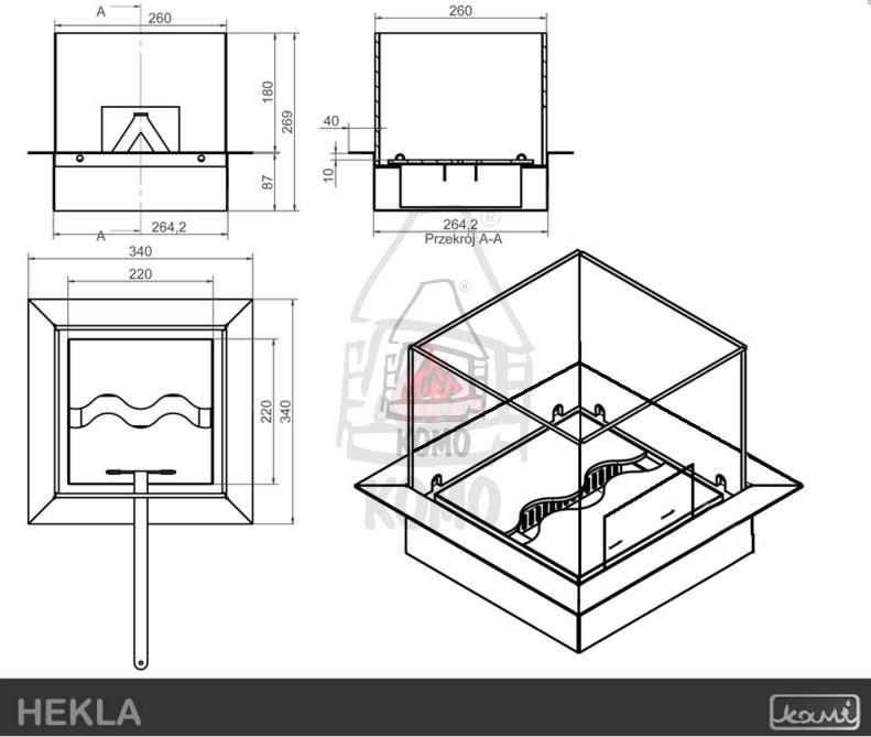 Hekla Biokominek KAMI Biokominki do mieszkania | Sklep