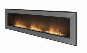 SIMPLE fire Biokominek FRAME 1800 INOX